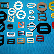 Lot of 27 Vintage Belt Buckles Scarf Slides