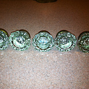Set Of 5 Vintage Glass Door Knobs