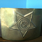 Authentic Soviet Army Belt Buckle With Belt