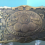 1973 Jack Daniels Whiskey Belt Buckle by Wyoming Studio Art Works