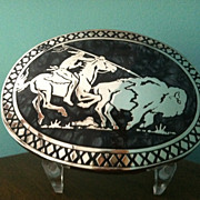 Award Designs Buffalo & Indian Belt Buckle