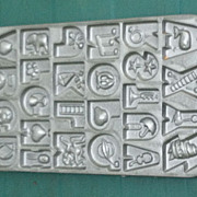 1985 John Wright Alphabet Cookie Candy Mold Cast Iron