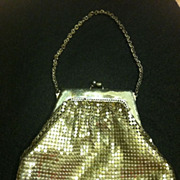 Vintage Davis And Whiting Silver Mesh Purse