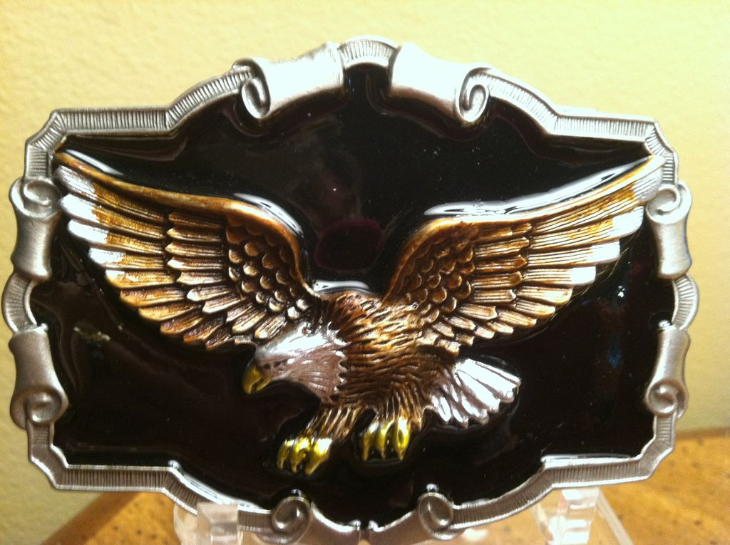 Heavy Pewter Eagle Belt Buckle 1983 Great American Buckle Co