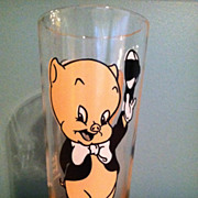 1973 Pepsi Porky Pig Collectors Glass