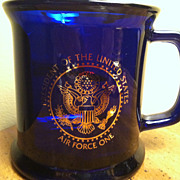 Cobalt Presidential Air Force One Presidential Seal Gold Trimmed Mug