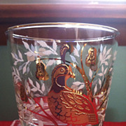 SALE Set of 8 1950's Libbey Partridge In A Pear Tree Glasses 2