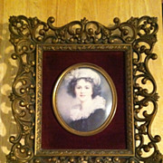 Vintage Vigee LeBrun Self Portrait Framed A Cameo Creation