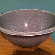 Vintage Gray Enamelware Basin