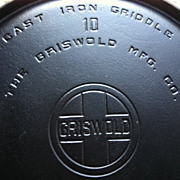 SALE Griswold Cast Iron Griddle Erie PA Number 10