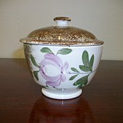 1840's Brown Statterware Sugar Bowl with Lid