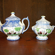 Child's Statterware Teapot and Sugar Bowl