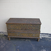 19th Century Unusual Folk Art Berks County PA Blanket Chest