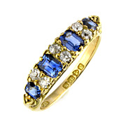 Edwardian Sapphire & Diamond Eternity Ring.