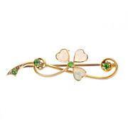 Early 20th Century Shamrock Brooch
