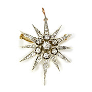 Victorian Diamond Star Brooch/Pendant