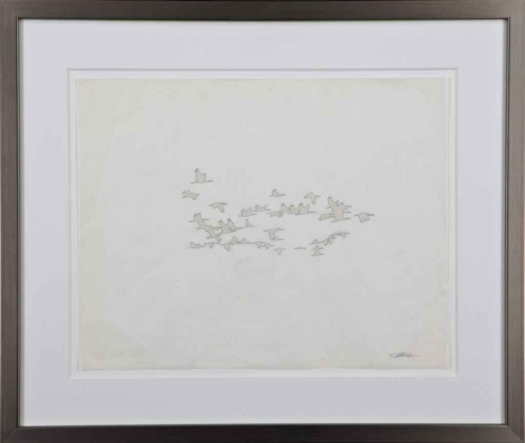 """Migration Series"" Thomas Swanston, Diamond Dust on Vellum Print"