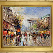 "SALE ""Parisian Street Scene"" Original Oil Painting on Canvas"