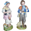Dmitrov Factory Pair of Porcelain Figurine