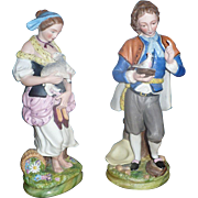 SALE Dmitrov Factory Pair of Porcelain Figurine