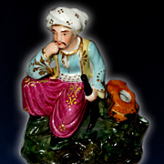 European Porcelain Figurine Of A Turk