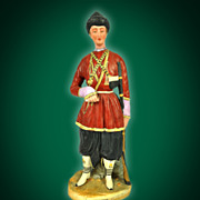 SOLD Russian Old Porcelain Figurine Of A Georgian