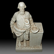SALE Russian Old Porcelain Figurine Of  a Street Bread Seller