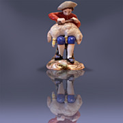 SOLD Russian Antique Porcelain Figurine By Popov Factory