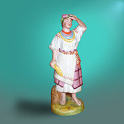 SALE Porcelain Figurine Of a Ukrainian Lady By Dmitrov Factory