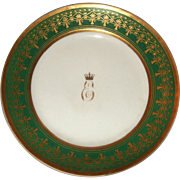 REDUCED Russian Antique Porcelain Plate