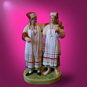 REDUCED Russian Porcelain figurine of Mordovian Women