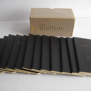 1942  Miniature MALTINE Memo Books (12)