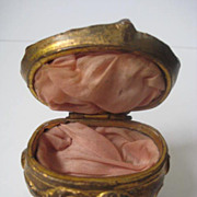Nouveau  Ornate Cast Metal Vanity Ring Box