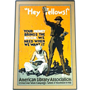 BJA1315 - American Library Association 1918 War Poster