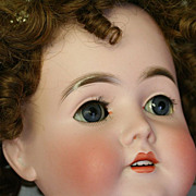 "SOLD 28"" Armand Marseilles Queen Louise Antique Bisque Head Doll Truly Royal"
