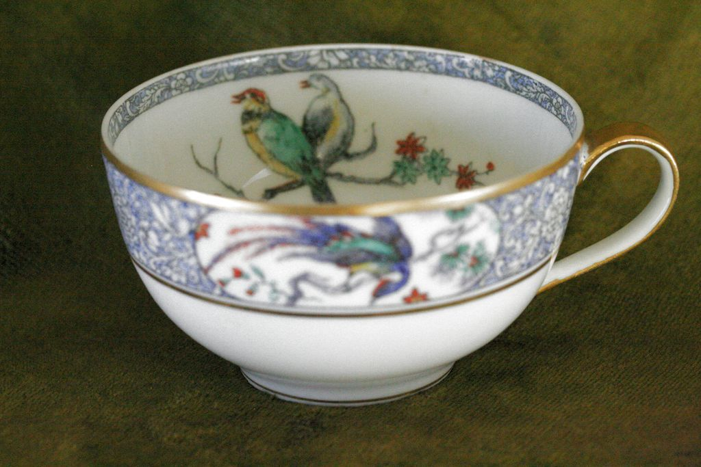 Theodore Haviland Limoges Rajah Tea Cup and Saucer French Porcelain