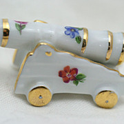 Limoges Miniature Cannon Floral Design