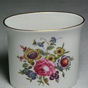 Royal Worcester Fine Bone China Vase Floral Motif Gold Trim