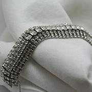 Signed Wiesner Crystal Rhinestone Bracelet