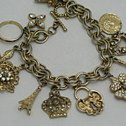 Charm Bracelet Gold-tone Graziano Fully Loaded