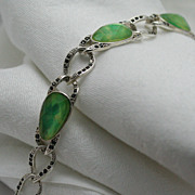 Signed Liz Claiborne Silver-tone Fashion Bracelet