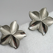 Marino Silver-tone Star Designed Earrings
