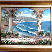 Gorgeous Original Oil Painting by Noted California Artist Francisco (Paco) Garcia