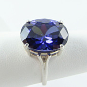 Tanzanite Blue Sterling Ring