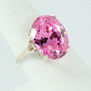 Bright Pink Sterling Silver ring