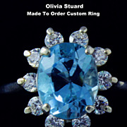 Swiss Blue Topaz 3.0ct. Silver Ring