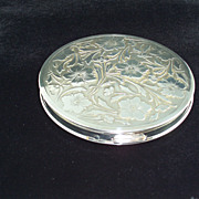 Sterling Silver compact, embossed, made in  England