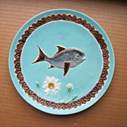 Antique 19th Century English Joseph Holdcroft  Majolica Plate