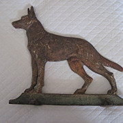 Old Cast Iron Doorstop German Shepherd Dog