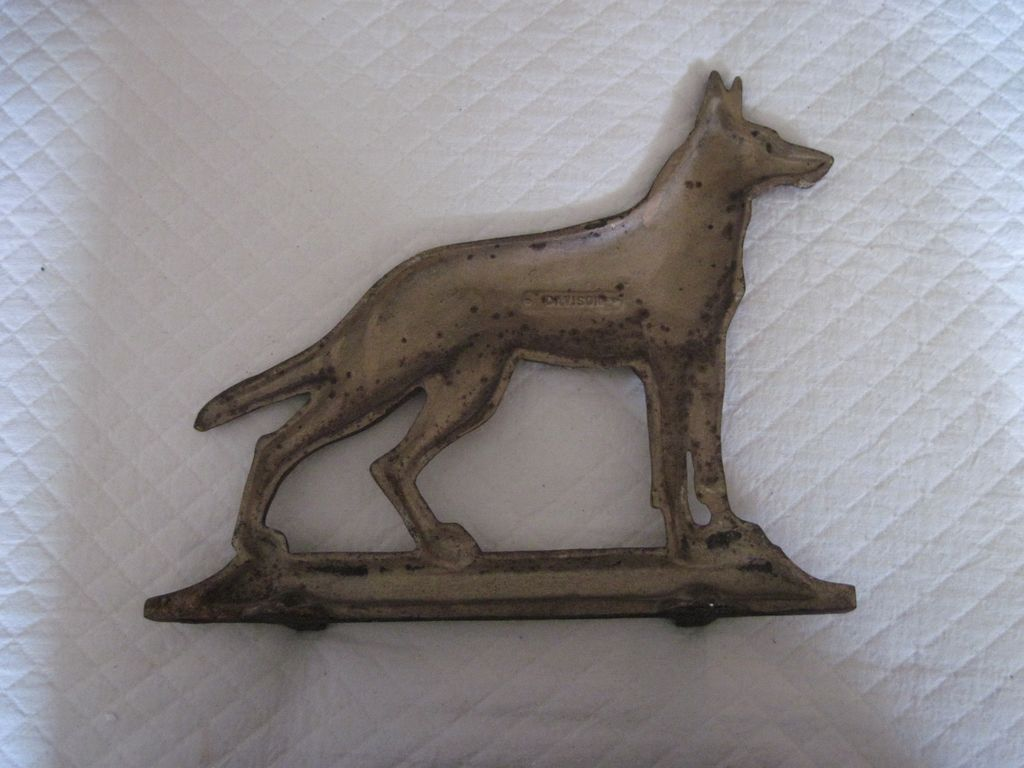 Old cast iron doorstop german shepherd dog from gaylegreen on ruby lane - Cast iron dog doorstop ...